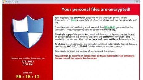 Cryptolocker Trojan Ransomware